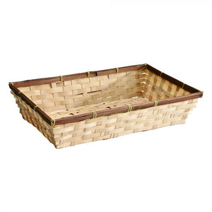 Rectangular Bamboo Display Basket
