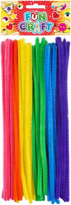 Fun Craft Assorted Chenille Stems / Pipe Cleaners 30pk