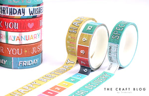 Dovecraft Sentiments Washi Tape Box - 20 Rolls