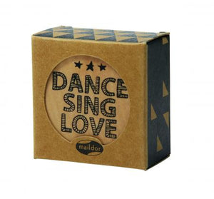 Wooden Pop Stamp - Dance Sing Love