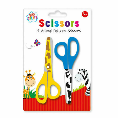 Kids Create Animal Printed Safety Scissors - 2pk