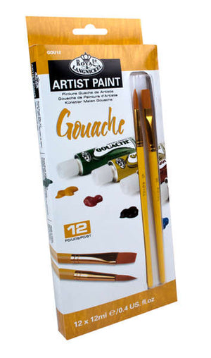 Royal & Langnickel Artist Paint Set with Brushes - Gouache 12pk