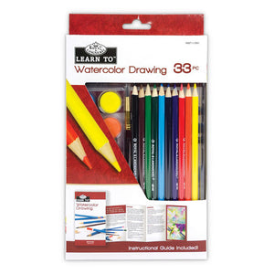 Royal & Langnickel Learn To: Watercolour Drawing: 33pc Art Set
