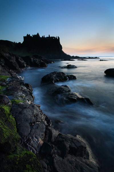 Dunluce Castle at late evening