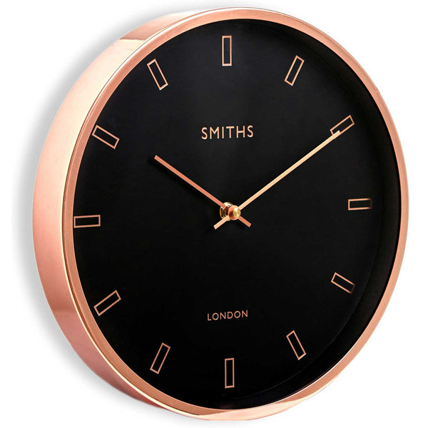 Smiths Firecrest Rose Gold Wall Clock 30cm Britain Can
