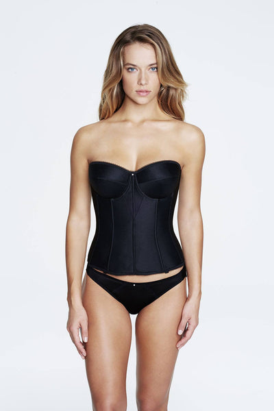 Lingerie - Dominique 8950 - Black - Juliette - Corset - Satin - longline bra - FABWedding