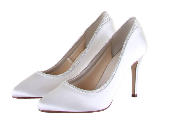 Bridal Shoes - Court - Stiletto - Ivory - shimmer - Billie - FABWedding