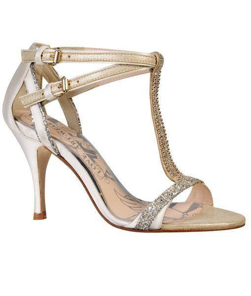 Carmen Cream Sandal Love Art Wear Art Bundle Fabwedding