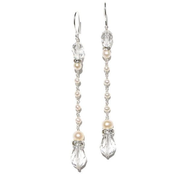 Jewellery - Divine Destiny - Long Drop Earrings - Christine - FABWedding