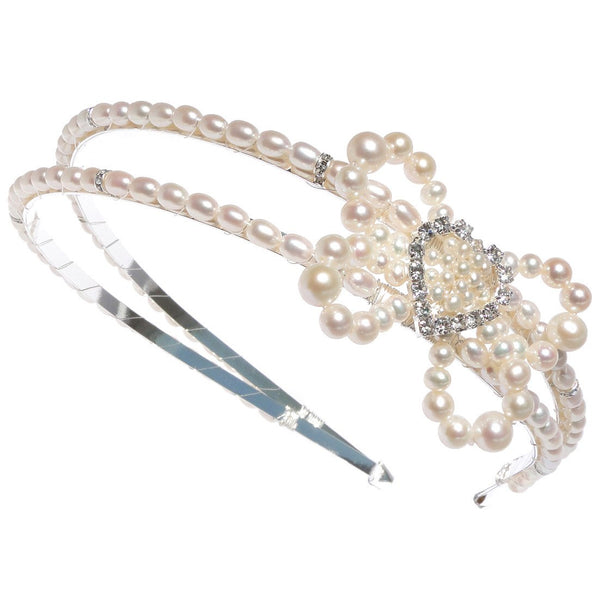 Jewellery - Divine Destiny - Tiara - Pearl - Bow - My Fair Lady - FABWedding