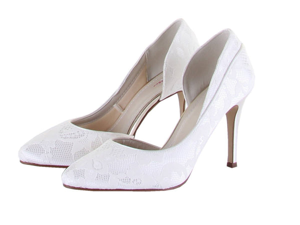 Bridal Shoes - Rainbow Club - Ivory - Lace - Court - Stiletto - Jessica - FABWedding