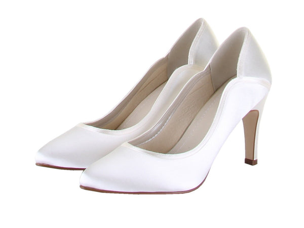 Rainbow Club - Lucy - Ivory Satin Bridal Shoes - Ivory Satin Wedding Shoes - Wedding Shoes UK - FABWEDDING.biz