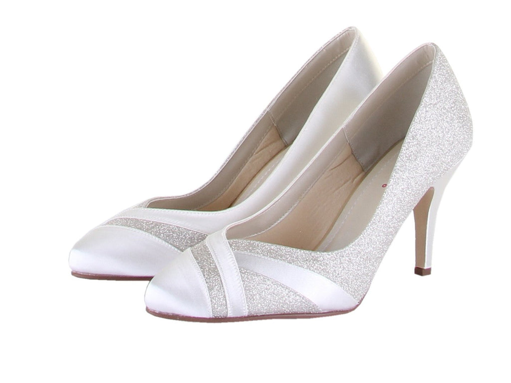 Bridal Shoes - Wedding Shoes UK - Rainbow Club - Court - Satin Poin - Shimmer Overlays - Mila - FABWedding