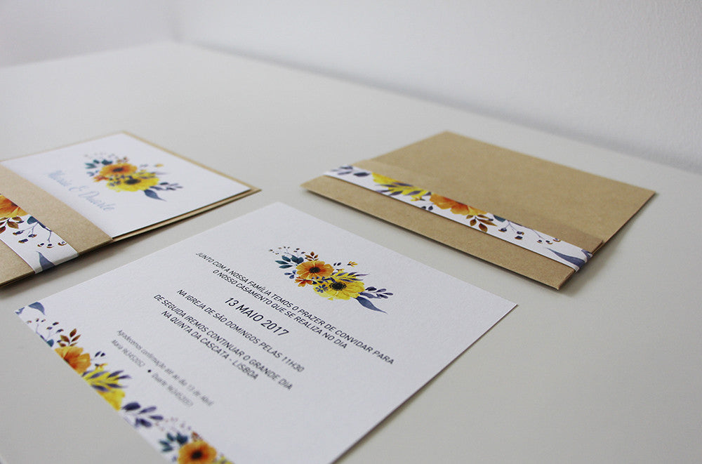 summer wedding invitation - wedding invitation uk - affordable wedding invitation - fabwedding