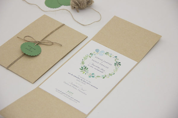 Wedding Stationery - Amor à Portuguesa - Pocket Wedding Invitation - FABWedding