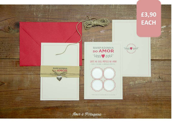 Scratch Postcard Invitation, Wedding Stationery - FABWedding