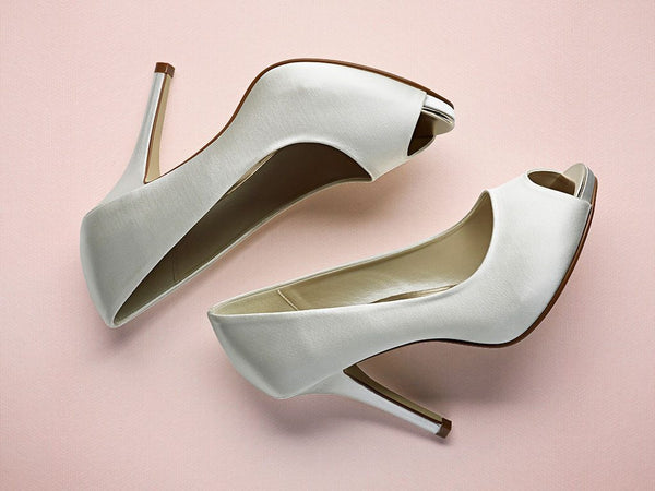 Bridal Shoes - Rainbow Club - Ivory - Peep Toe - Court - Stiletto - Jennifer - FABWedding