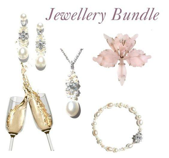 jewellery bundle bridal look fabwedding earring bracelet necklace