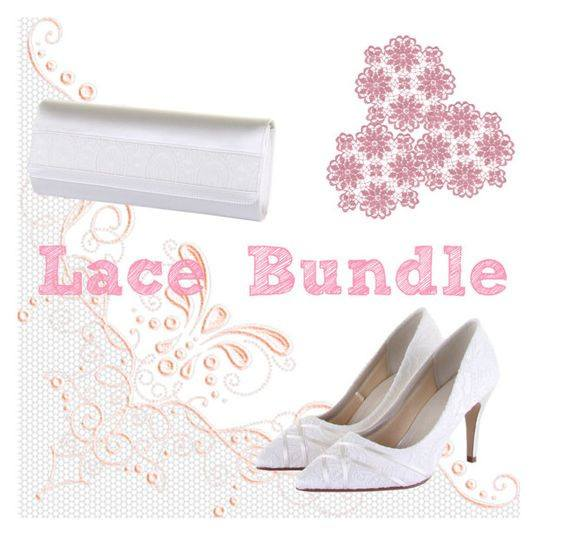 lace bridal bundle wedding shoes and party handbag