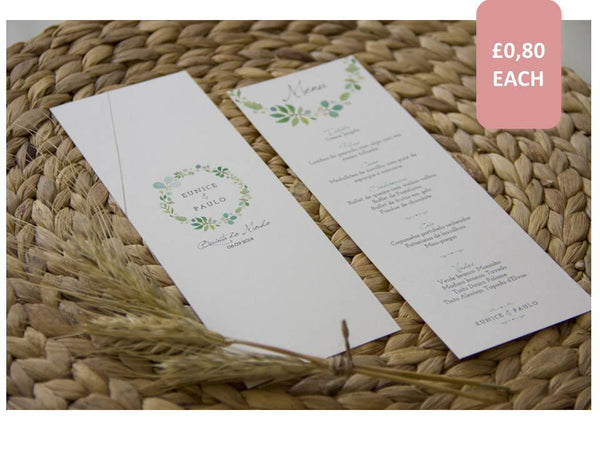 Wedding Stationery - Amor à Portuguesa - Breakfast Menu - FABWedding - 1