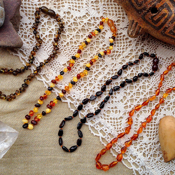 Baby Amber Necklace - Brown