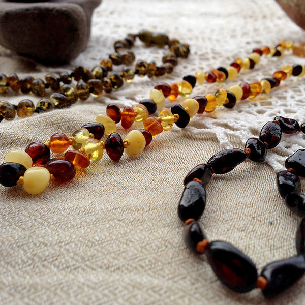 Baby Amber Necklace - Mix