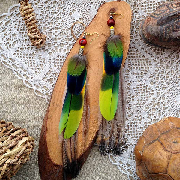 Tribal Feather Earrings