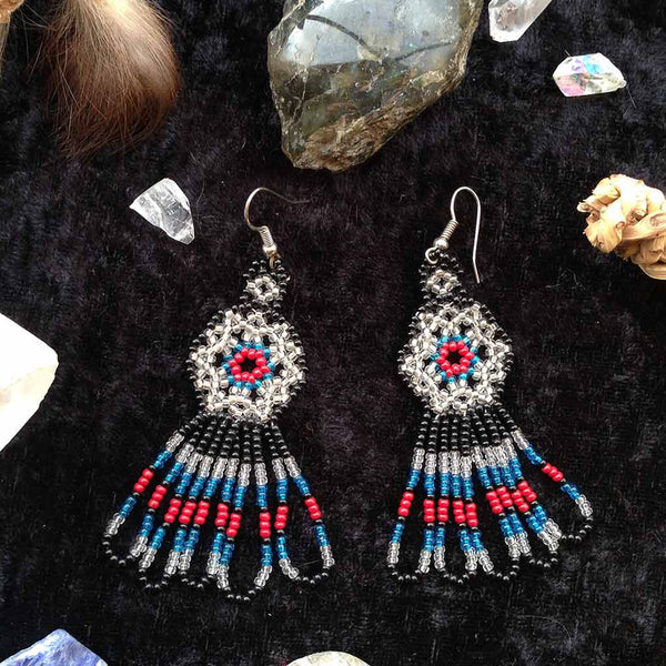 Payote Earrings - Black