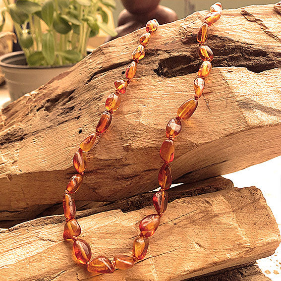 Baby Amber Necklace - Yellow