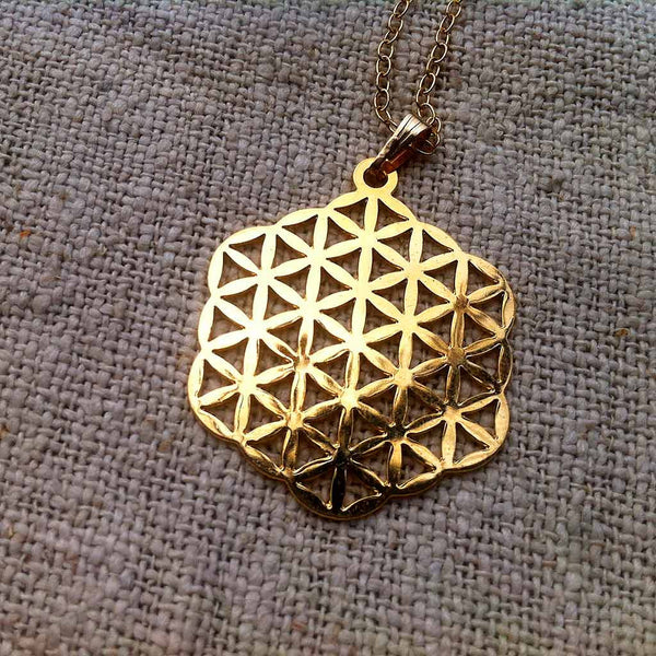 Flower of Life - Gold Plated Pendant