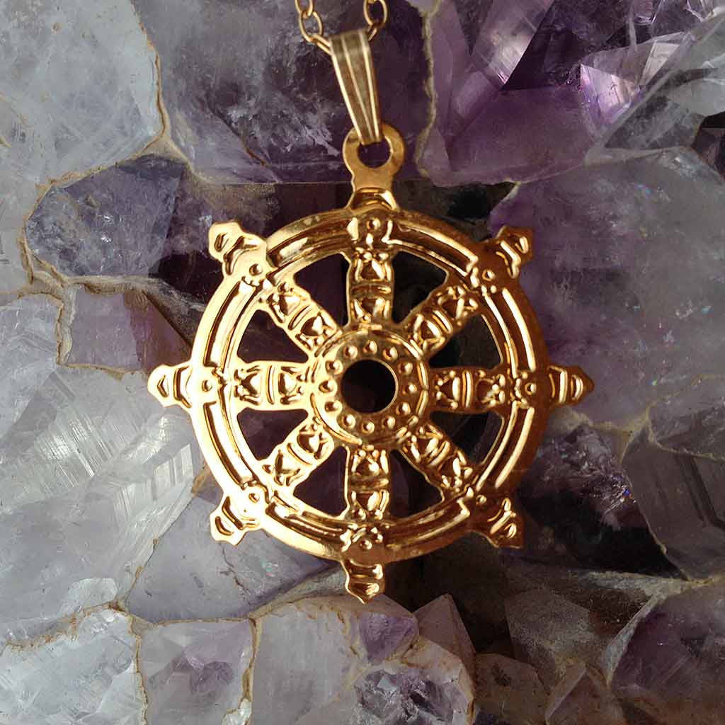 The wheel of dharma gold plated pendant lightgarden the wheel of dharma gold plated pendant aloadofball Choice Image