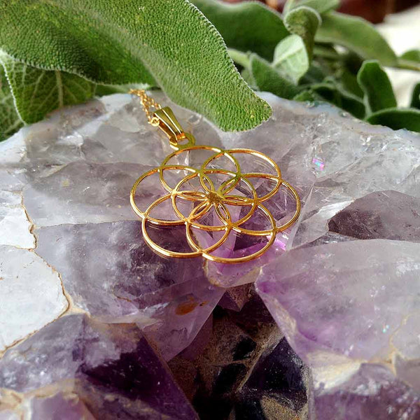 Seed of Life - Gold Plated Pendant