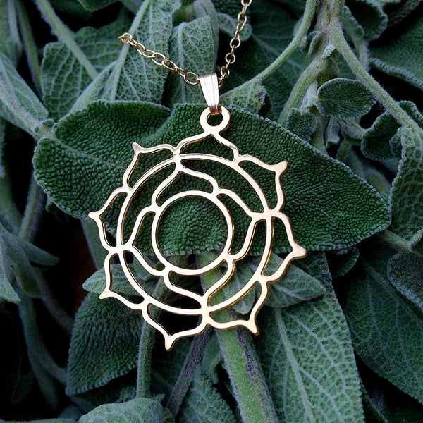 Genesis Lotus - Gold Plated Pendant