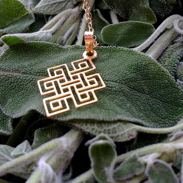 'The Endless Knot' - Gold Plated Pendant