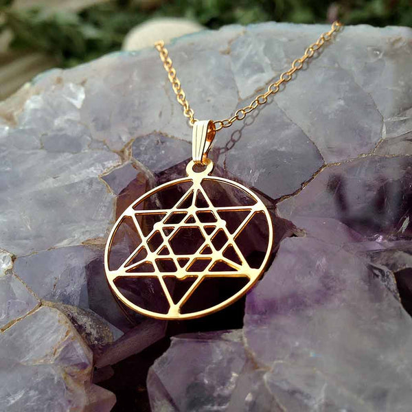 Cosmic Star of David - Gold Plated Pendant
