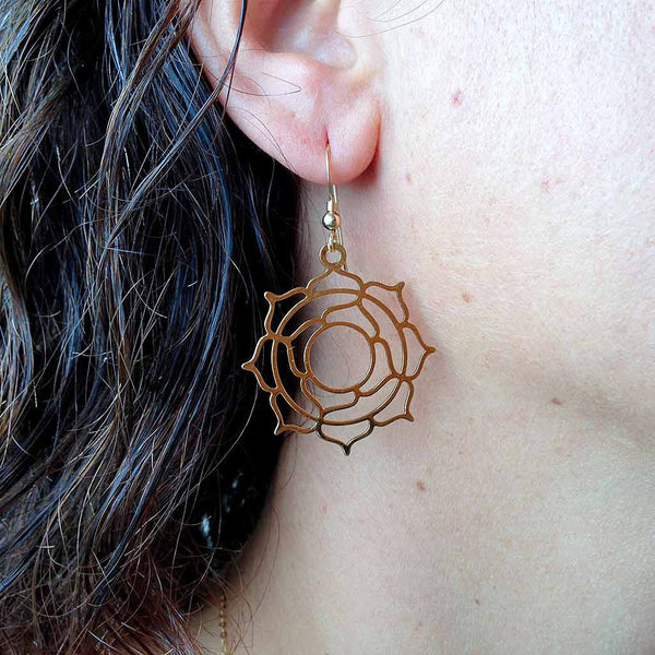 Genesis Lotus - Gold Plated Earrings