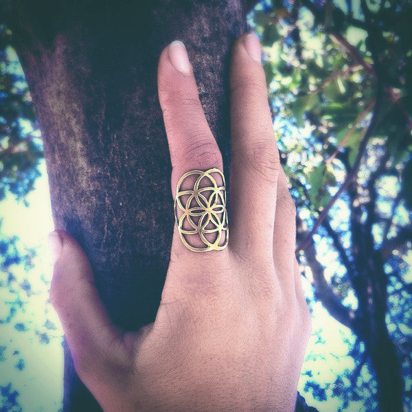 Seed of life Ring ~ Large ~