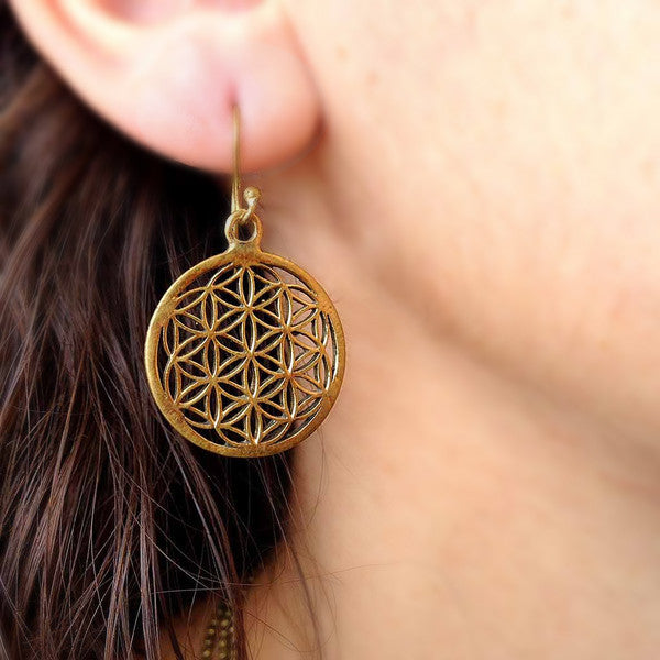Royal Flower Of Life Earrings
