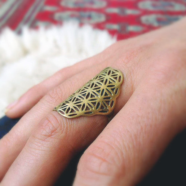 Flower of life Ring ~ Oriental ~