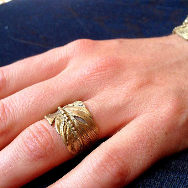 Royal Feather Ring