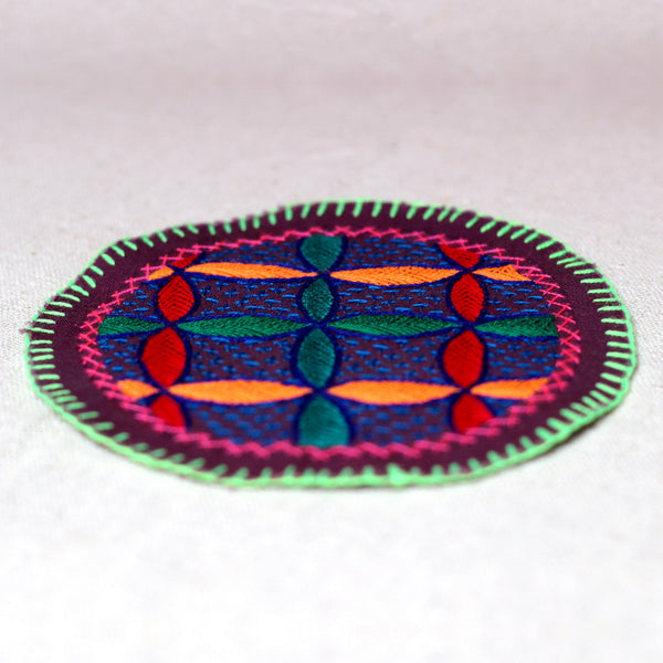 Small Flower of Life - Original Shipibo embroidery