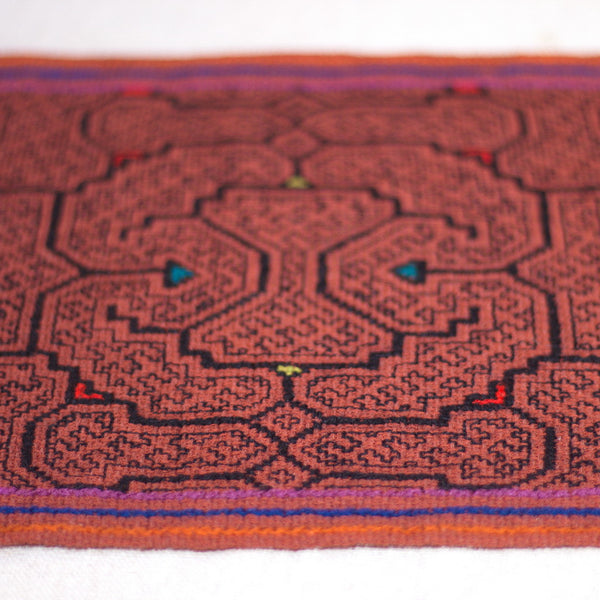 Brown waves - ORIGINAL SHIPIBO EMBROIDERY