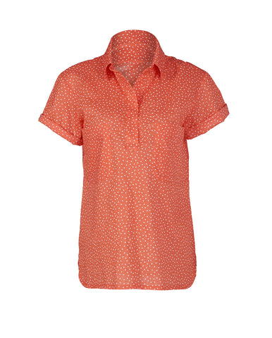 Polka-dot cotton polo shirt - by KO - Oberson House Of Design