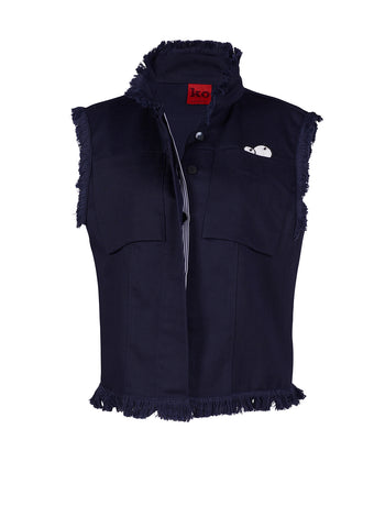 Blue vest - by KO - Oberson House Of Design