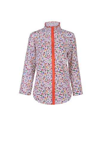 Printed Japanese silk blouse - by KO - Oberson House Of Design