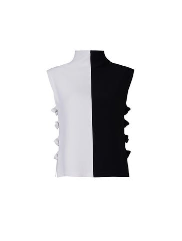 Black & white turtleneck top - by KO - Oberson House Of Design