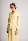 yellow coat dress