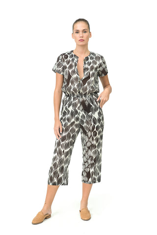 PINE JUMPSUIT - by Gideon Oberson Swimwear - Oberson House Of Design