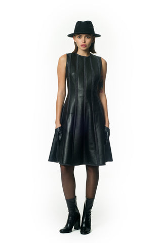Midi leather dress