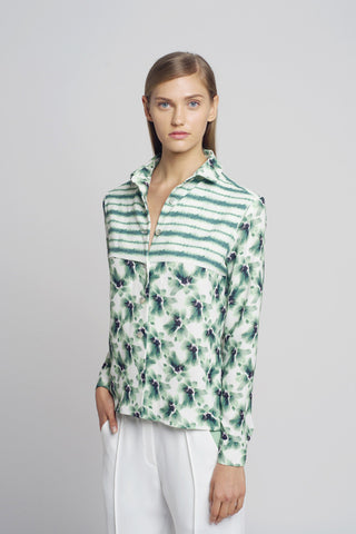 Floral and Stripes Shirt - Oberson House Of Design